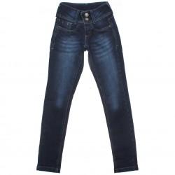 Calça Jeans Sonho de Amor Menina Botão Duplo Strass 30510