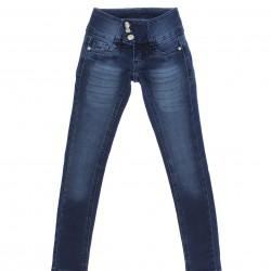 Calça Jeans Sonho de Amor Menina Botão Triplo Strass 29140