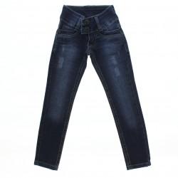 Calça Jeans Sonho de AmorMenina Botão Duplo Flor 28487