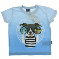 Camiseta Alakazoo Menino Estampa Cachorro Binóculo 28844