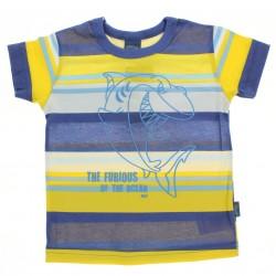 Camiseta Alakazoo Menino Estampa Tubarão Listrada 28852