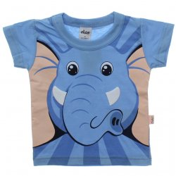 Camiseta Bebê Infantil Elian Elefante Estampa Relevo 31468