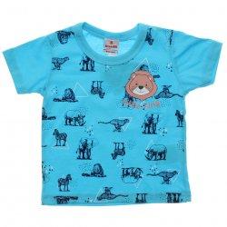 Camiseta Bebê Menino Estampada Animais Lion 31426