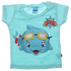 Camiseta Bebê Menino Livy Estampa Golfinho 31772