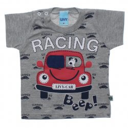 Camiseta Bebê Menino Livy Racing Janela Interativa 31773