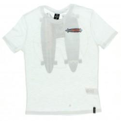 Camiseta Fico Juvenil Menino  Estampa Skate Decote V 28868