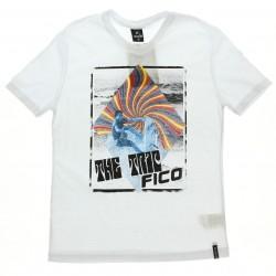 Camiseta Fico Juvenil Menino Estampa Surf Decote V 28682