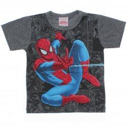 Camiseta Homem Aranha Infantil Estampa Fundo Quadrinhos 31564