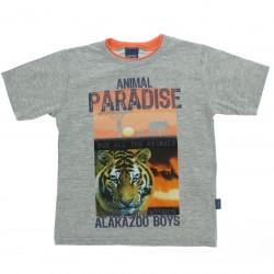 Camiseta Infantil Alakazoo Menino Estampa Animal Paradise