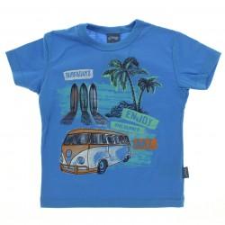 Camiseta Infantil Alakazoo Menino Surf Enjoy Kombi
