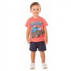 Camiseta Infantil Livy Menino MonsterTruck 31777