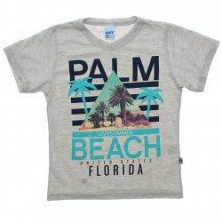 Camiseta Infantil Livy Menino Palm Beach Decote V 31813