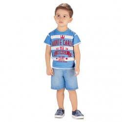 Camiseta Infantil Menino Colorittá Listrada Monte Carlo 31607