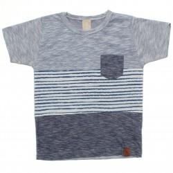 Camiseta Infantil Menino Colorittá Listras e Bolso 30756