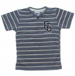 Camiseta Infantil Trick Nick Listras e Botão no Decote 31636