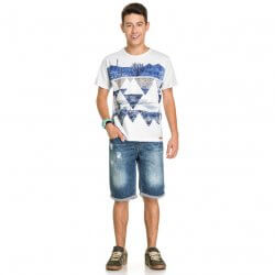 Camiseta Infanto Juvenil Elian Beats Cactos e Triângulos 31494