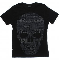 Camiseta Juvenil Rovitex Teen Caveira Punk Rock 31525