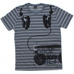 Camiseta Juvenil Rovitex Teen Listrada Fone Drop The Beat 31526