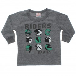 Camiseta Manga Longa Brandili Bebê Estampa Capacetes 31061