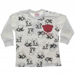 Camiseta Manga Longa Brandili Bebê Litlle Bear 30957