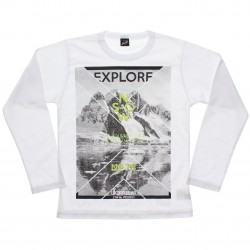 Camiseta Manga Longa Elian Beats Juvenil Explore 30974