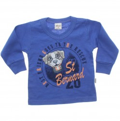 Camiseta Manga Longa Elian Bebê Infantil St Bernard 30886