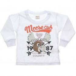 Camiseta Manga Longa Elian Infantil Estampa Moose Cub 30986