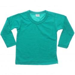 Camiseta Manga Longa Elian Infantil Gola V Lisa 4 a 16 31106