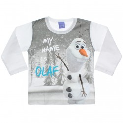 Camiseta Manga Longa Frozen Disney My Name is Olaf 31075