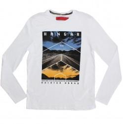 Camiseta Manga Longa Hangar Juvenil Estampa Estrada 29803
