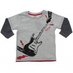Camiseta Manga Longa Have Fun Menino Sobreposta Guitarra 31359