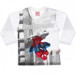 Camiseta Manga Longa Homem Aranha Estampa Cidade 29734