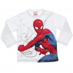 Camiseta Manga Longa Homem Aranha Estampa Teia Mão 31068