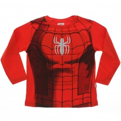 Camiseta Manga Longa Homem Aranha Imita Uniforme Relevo