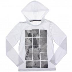 Camiseta Manga Longa Juvenil Rovitex Quadro Skatista Capuz 31000