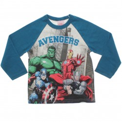 Camiseta Manga Longa Marvel Infantil Avengers Heróis 30932