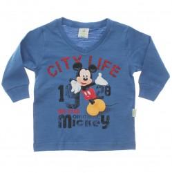 Camiseta Manga Longa Mickey Disney City Life Punho 29596