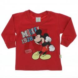 Camiseta Manga Longa Mickey Disney Menino Punho 27938