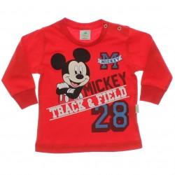 Camiseta Manga Longa Mickey Disney Menino Punho 29479