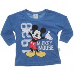 Camiseta Manga Longa Mickey Disney Menino Punho 30952