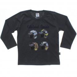 Camiseta Manga Longa Pulla Bulla Infantil Helmet Guide 31246