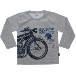 Camiseta Manga Longa Pulla Bulla Infantil Motorcycle Race 31234