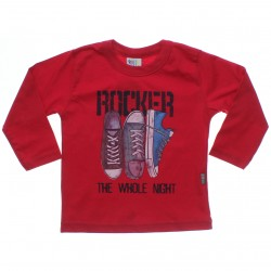 Camiseta Manga Longa Pulla Bulla Infantil Rocker Tênis 31235