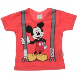 Camiseta Mickey Disney Estampa Suspensorio 30680