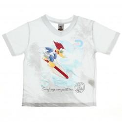 Camiseta Pica Pau Infantil Menino Surfing Decote V 27494