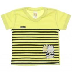 Camiseta Pulla Bulla Bebê Urso Marinheiro 30405
