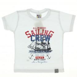 Camiseta Pulla Bulla Infantil Estampa Sailing Crew 28973
