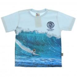 Camiseta Pulla Bulla Infantil Menino Estampa Surfista 29218