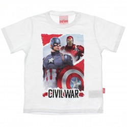 Camiseta Vingadores Marvel Infantil Civil War 30007