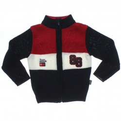 Cardigan Pulla Bulla Infantil Menino Tricot Bordado 86 31236